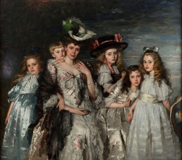 1906 Thérèse Schwartze - Portrait of Mrs. A.G.M. van Ogtrop-Hanlo and her five children: