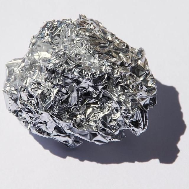 Metals vs. Nonmetals: What's the Difference?: Many metals, such as this aluminum foil, have a shiny silvery appearance.