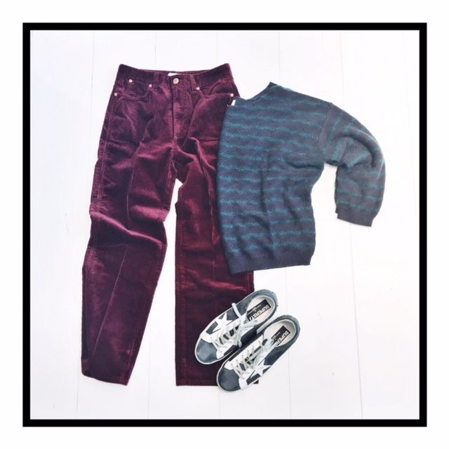 Cord With A Velvety Touch / Cord Pants by Closed, Knit by Bellerose and Sneakers by Golden Goose Deluxe Brand