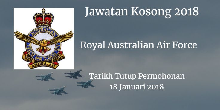 Jawatan Kosong Royal Australian Air Force 18 Januari 2018  Jawatan Kosong Royal Australian Air Force  2018. Syarikat Royal Australian Air Force membuka peluang pekerjaan Royal Australian Air Force terkini 2018 ini.  Jawatan Kosong Royal Australian Air Force 18 Januari 2018  Warganegara Malaysia yang berminat kerja di Royal Australian Air Force dan berkelayakan dipelawa untuk memohon kekosongan jawatan :  RAMP SERVICES OPERATOR in aviation ground handling and refuelling at the Royal Australian Air Force at RMAF Base Butterworth Penang.This position is classified as LCC2.  Responsibilities: Conduct aircraft ground handling and marshalling. Prepare cargo and passengers for air transportation. Pack and accept dangerous goods cargo. Operate Material Handling Equipment and other heavy vehicles. Perform daily fuel quality control on refuelling vehicles. Conduct aircraft refuelling. Perform general VIP and ambulance driving duties. Maintain cleanliness of Defence vehicles. Conduct all business practices within defence WHS guidelines.  Requirements: Must possess D driving licence (Car). Sound knowledge of Penang and surrounding area. Sound understanding of Malaysian road laws. Ability to maintain safety standards while conducting duties. Ability to work outside normal working hours including weekends and public holidays. Proficient in English and Bahasa Malaysia. Previous experience in the aviation industry would be advantageous. Previous experience handling fuel and other dangerous goods would be advantageous. Previous experience utilising Material Handling Equipment such as forklifts baggage conveyors water trucks and tow motors would be advantageous.  Interested applicants are invited to submit an application via email with a detailed resume and response to the position's responsibilities including expected salary byThursday 18 January 2018 to:  The Civilian Administration Office Royal Australian Air Force 19 Squadron RMAF Base 12990 Butterworth Penang Email :Jeremy.teh@adfbut.com.my  via Joblah Jawatan Kosong