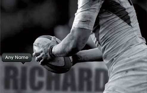 Classic Personalised Rugby Poster £14.99 - The Wedding Gift Company