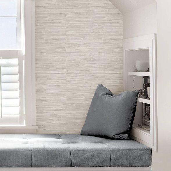 Nuwallpaper Grassweave Peel Stick Wallpaper Cream Nuwallpaper Peel And Stick Wallpaper Stylish Space