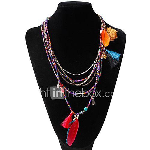 Damen Stränge Halsketten Aleación Feder Modisch Böhmen-Art Regenbogen Schmuck Hochzeit 1 Stück - EUR €4.40 ! ARTIKEL! Heiße Artikel zu unglaublich niedrigen Preisen sind jetzt im Angebot! Komm und schau sie dir, zusammen mit anderen Produkten an. Großartige Rabatte, Prämien für jeden deiner Einkäufe!