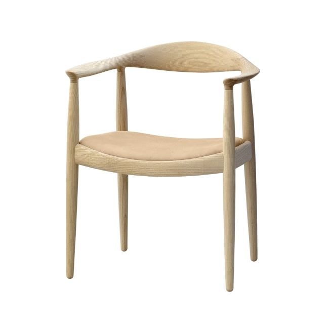 PP Møbler Hans J. Wegner pp501 The Chair Leather Seat - Designshopdenmark.com