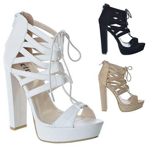 Neue Damen Spitzen bis High Heel Keil Sandalen Plattform Strappy Cut Out Schuhe Größe - http://on-line-kaufen.de/miss-image-uk/neue-damen-spitzen-bis-high-heel-keil-sandalen-cut
