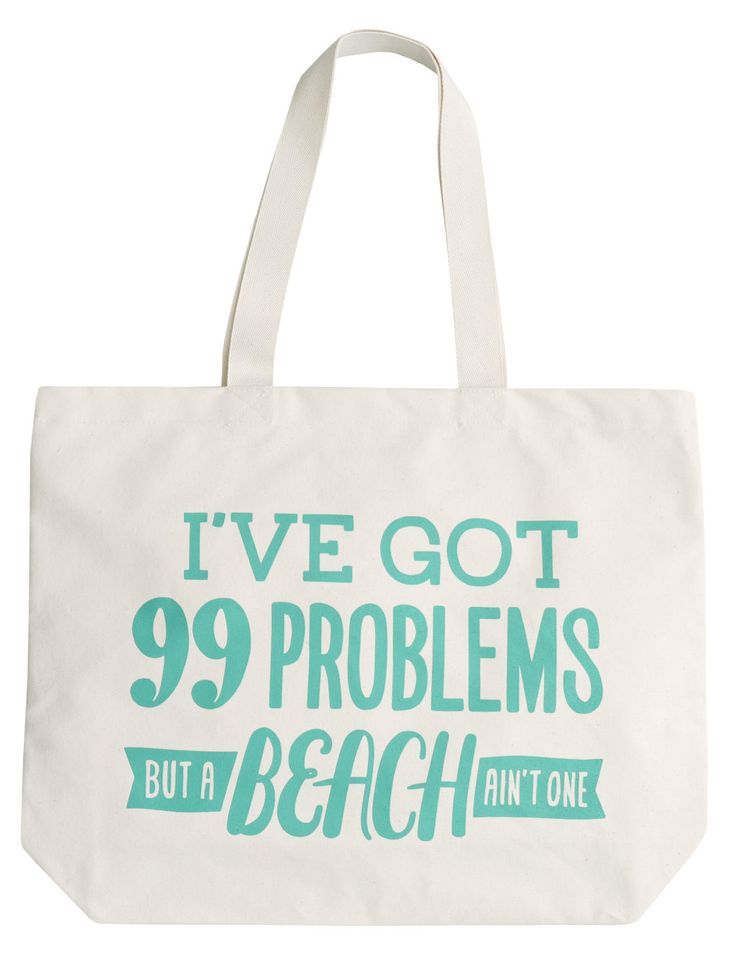 Between sunscreen, your fave new book, a towel, and snacks, you have a lot to carry! This fun canvas tote fits all your beach gear, and you won't have to worry about it getting ruined if it gets wet. 99 Problems Big Canvas Tote, $32.68, alphabetbags.com