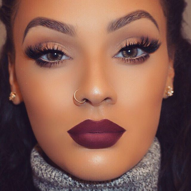 """""""Fall/winter glam is always the best glam time of year for me  • """"Tease"""" lashes by @minkwinklashes • """"Sad Girl"""" liquid lipstick by…"""""""