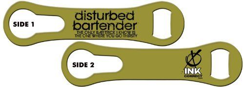 V-RODTM Bone Bottle Opener and Pour Spout Remover: Disturbed Bartender - Bar Tricks: Army by Ink Correct. $8.99. Bottle Opener & Pour Spout Remover  The revamped, sleek and multifunctional new version of the original Bartender's Bottle Opener, the V-RODTM Opener is the latest and greatest addition to our line of Killer Bartender Gear. The bone shaped design  features an ergonomic grip and an additional groove on the ring end that allows for the easy removal of pour spou...