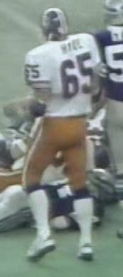 Offensive lineman GLENN HYDE (65)--October 29, 1978