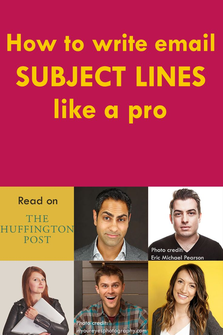How to write email subject lines that work? Learn from the best! Email marketing masters, such as Ramit Sethi, Derek Helpern, Mariah Coz, Charlie Hoehn and Melyssa Griffin, offer their examples in this Huffington Post article on email subject lines.