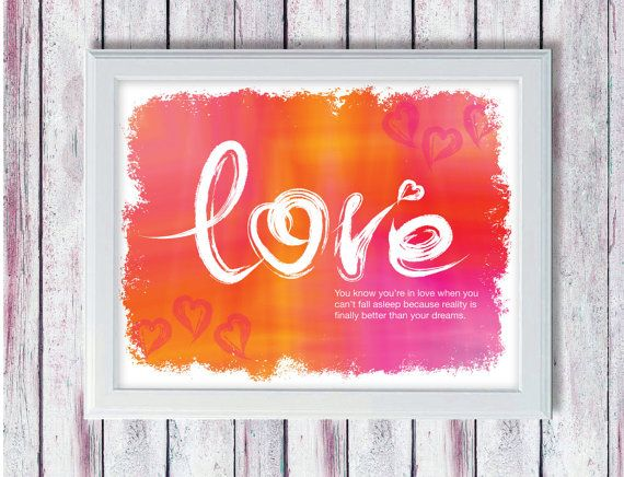Valentines Day 8x10 Art Print PRINTABLE by SmudgeCreativeDesign