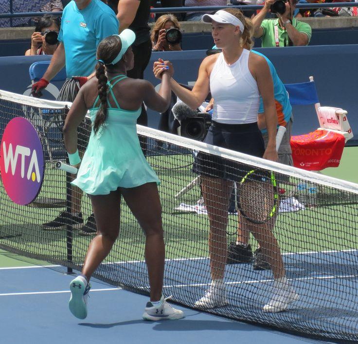 Via Ms Janeen: Caroline Wozniacki advances to final of WTA Rogers Cup, defeats Sloane Stephens 6-2, 6-3 via @ESPN App pic via Mike McIntyre