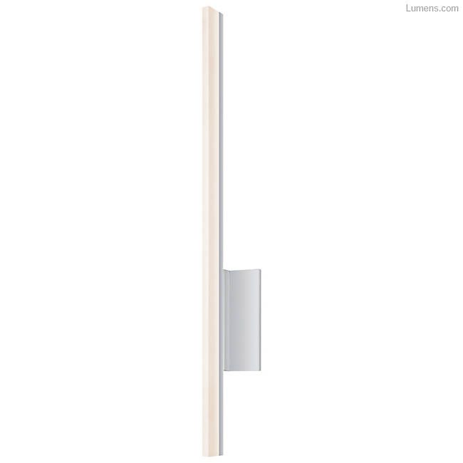 Stiletto Led Wall Sconce Satin Aluminum 24 In Open Box Led Wall Sconce Contemporary Bathroom Lighting Wall Sconces