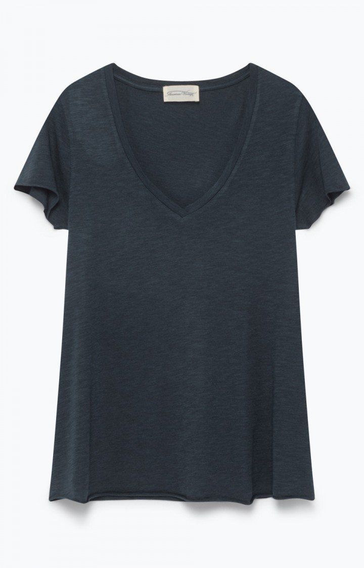T-shirt femme Jacksonville Navy - American Vintage