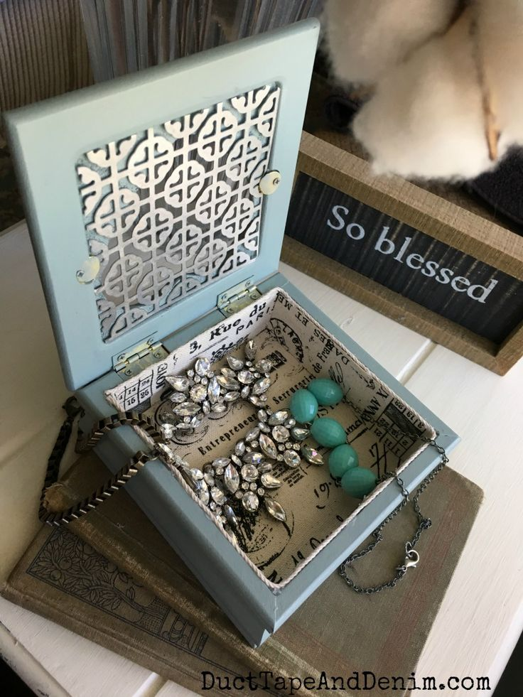 Jewelry Box Makeovers 16 Thrift Store