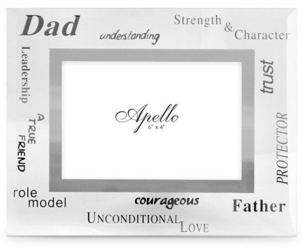 Dad or Pop - Glass Photo Frame - a special father's day gift idea.