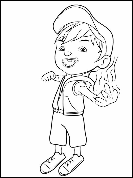 Printable Coloring Pages For Kids Boboiboy 4 Printable Coloring Book Coloring Books Printable Coloring