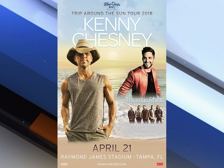 Kenny Chesney kicks off 'Trip Around the Sun' tour at Tampa's Raymond James Stadium in 2018 - abcactionnews.com WFTS-TV
