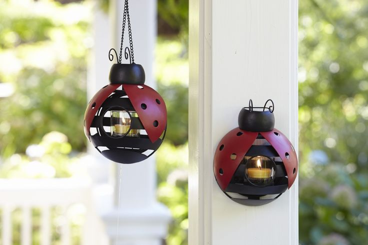 Our Ladybug Hanging Votive Holder is fast becoming one of our most popular Summer accessories!   So versatile... Display it 3 ways - suspend with a chain, hang on the wall as a sconce or place flat on a table.