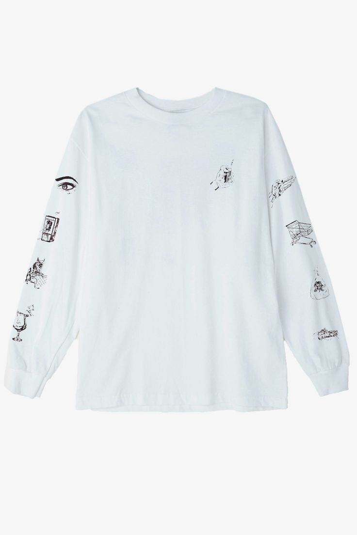OBEY - Tropical Casualty L/S Tee - White