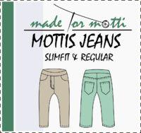 Freebook Mottis Jeans 86 - 140 - Hose aus nicht dehnbaren Stoffen wie Jeans für Kinder nähen