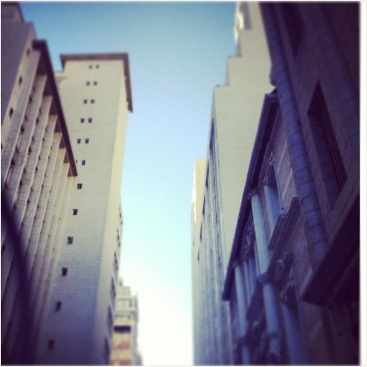 Loop street, buildings, Cape Town