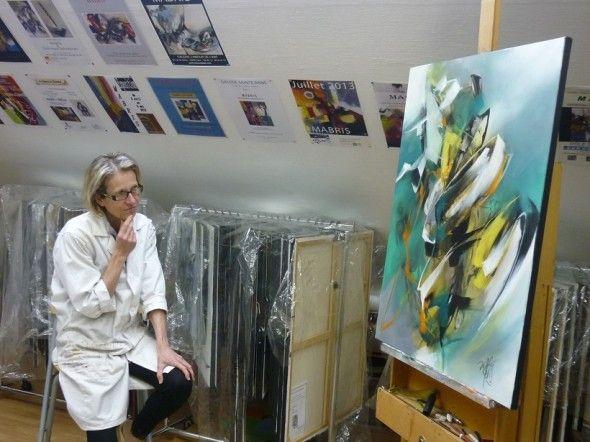 Rencontre avec l artiste peintre mabris portraits d - Atelier artiste peintre ...