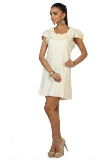 Cream Linen Dress  Rs. 2,445