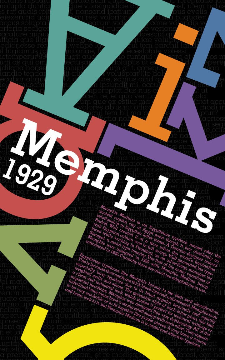 Poster design history - Memphis Typeface History
