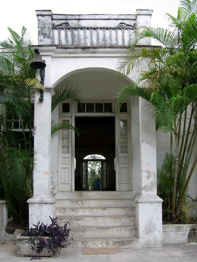 Hemingway's home in Havana.  I love how you can see through the house from the front door to the back door!