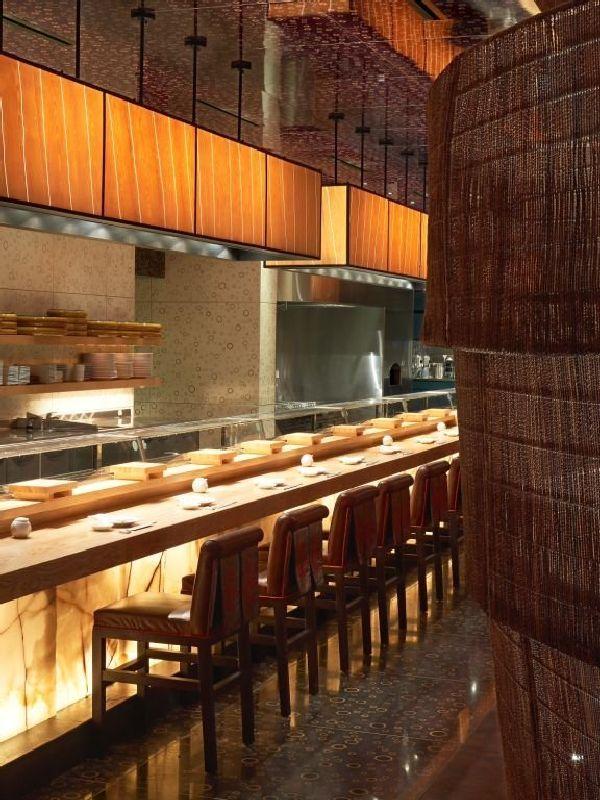 Contemporary nobu restaurant in dubai atlantis resort on