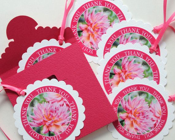 Hey, I found this really awesome Etsy listing at https://www.etsy.com/listing/101642343/pink-dahlia-thank-you-gift-tag-round