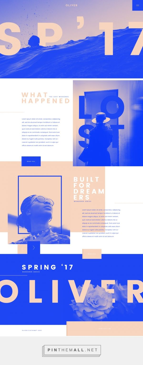 Oliver Clothing Spring '17 Web Design by Tom Rich | Fivestar Branding Agency – Design and Branding Agency & Curated Inspiration Gallery