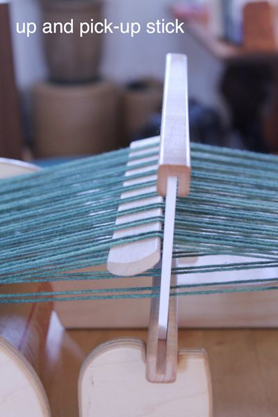 Pick-up Stick weaving (Get Warped): It's like adding extra shafts to your RH loom!