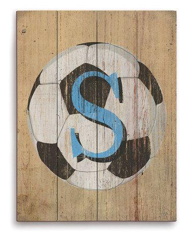 Soccer Ball Initial Wall Art on #zulily! #zulilyfinds
