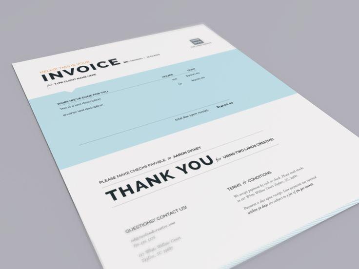 Two Lands Creative Invoice | graphic design