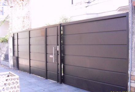portones corredizo automaticos con puerta - Buscar con Google