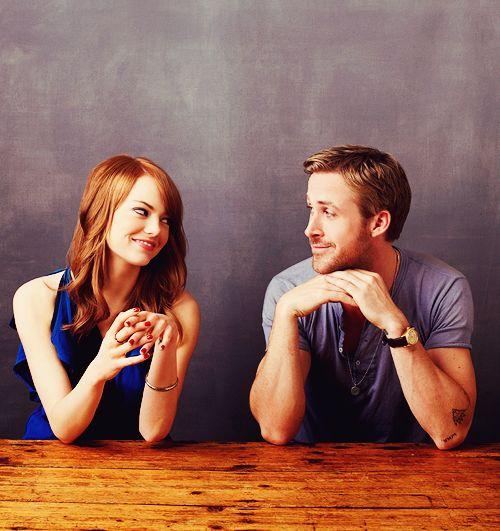 "fuckyeahmcgosling: ""Emma Stone & Ryan Gosling """