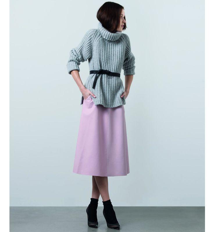 La jupe midi rose Gat Rimon, tendance mode automne hiver 2014-2015
