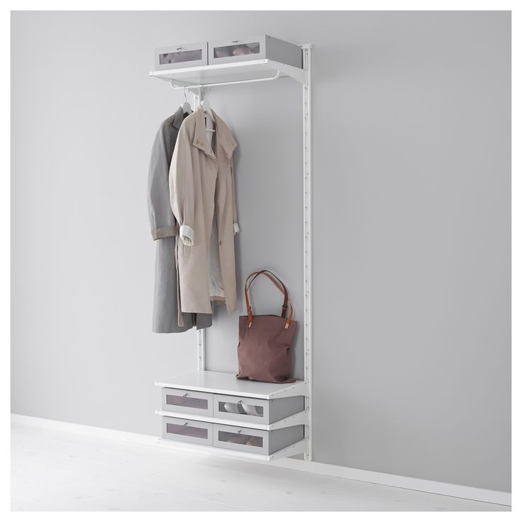 IKEA - ALGOT, Wall upright/shelves/rod, The parts in the ALGOT series can be combined in many different ways and easily adapted to your needs and space.Since you only need to click in the brackets, shelves and accessories, it is easy to assemble, adjust and change your storage solution.Can be used anywhere in your home, even in damp areas like the bathroom and under covered balconies.