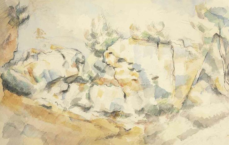 Paul Cezanne (1839-1906)  Rochers à Bibémus