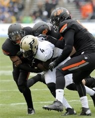 Heart of Dallas Bowl: Oklahoma State #Cowboys over Purdue #Boilermakers 58-14.