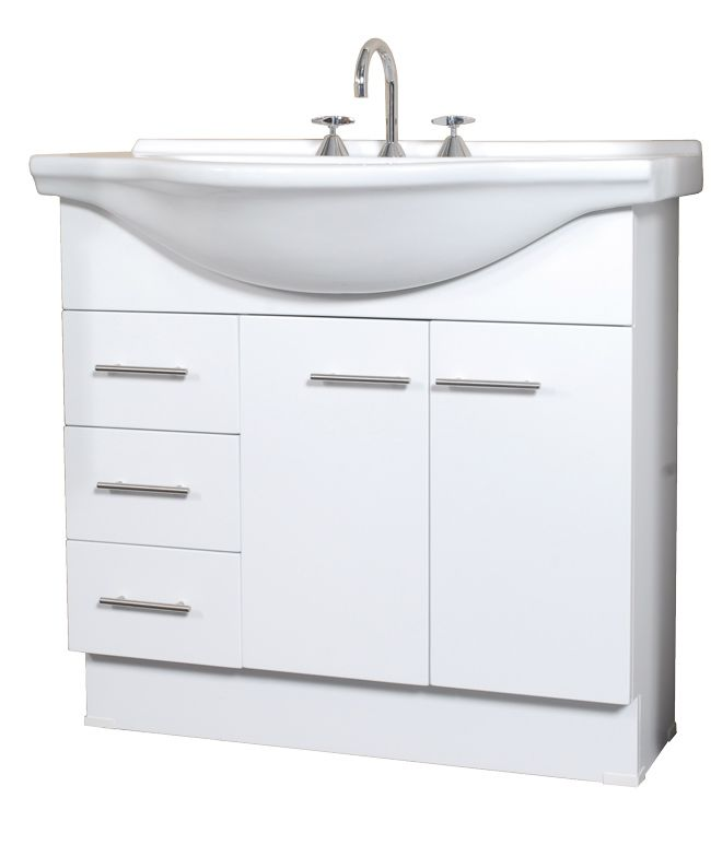 Clearance Bathroom Vanities | Clearance Items | Bathroom - Clearance |  Aspect 900mm Vanity (Right