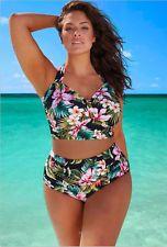 Halter vysoký pas Flor sexy plavky plavky pláž ke koupání plus velikosti ženy