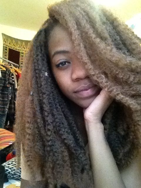Marley braids unbraided | Marley twists crochet ...
