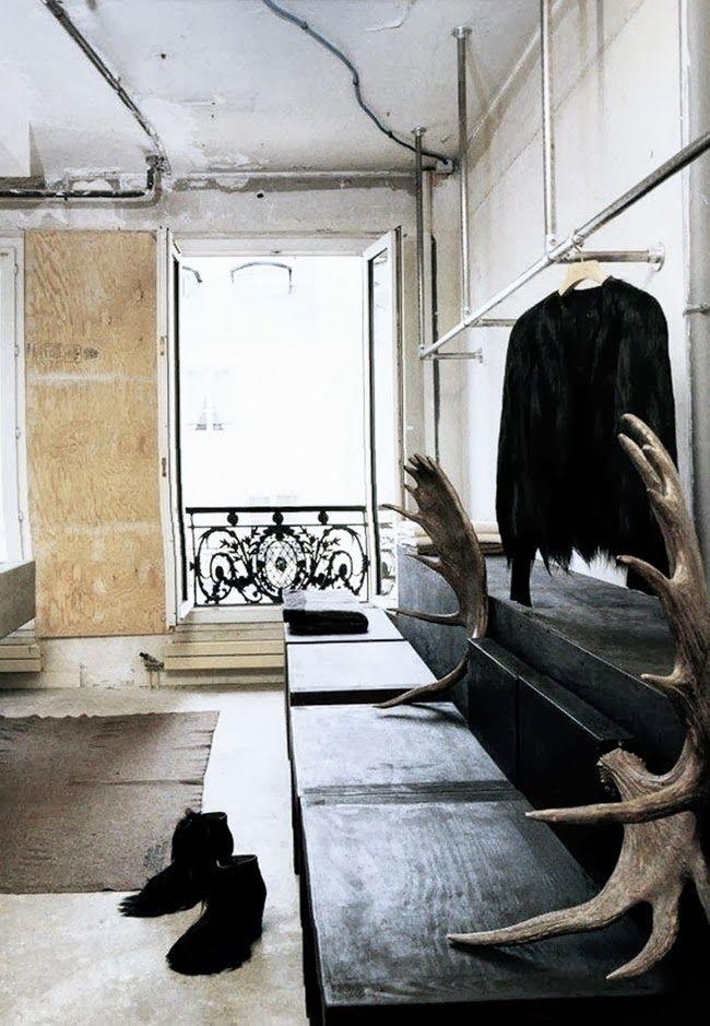 ATELIER RUE VERTE , le blog: L'appartement parisien de Rick Owens, dans l'ancien siège du Parti Socialiste