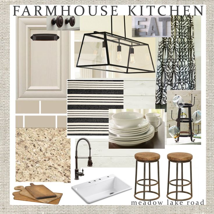 A farmhouse style kitchen design plan that won't break the bank. www.meadowlakeroad.com