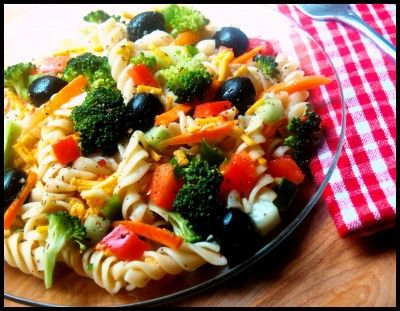 Low fat lunch idea: Pasta Salad | The Girly Looks