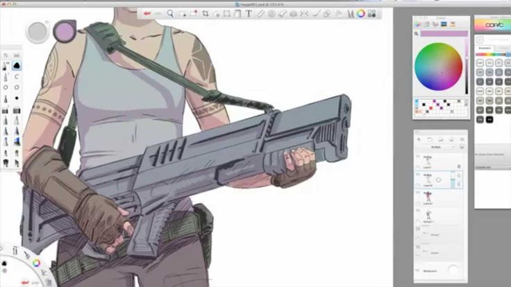 Software Tips: SketchBook Pro 7 Coloring With Kevin Mellon