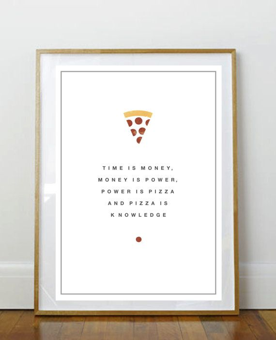 Parks and Recreation Poster - April Ludgate quote about Pizza    This is a giclee print on a fine art matte paper (160gsm) printed using an